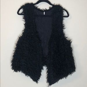 Free people fuzzy vest